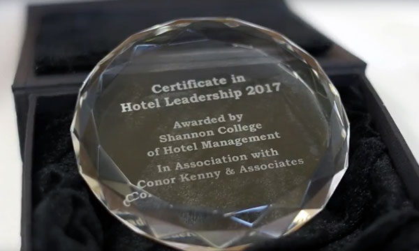 Certificate in Hotel Leadership